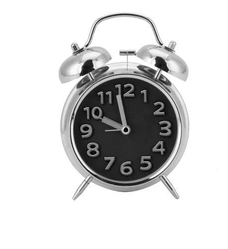 Relógio despertador não faz tic tac e toca c/ som alto
