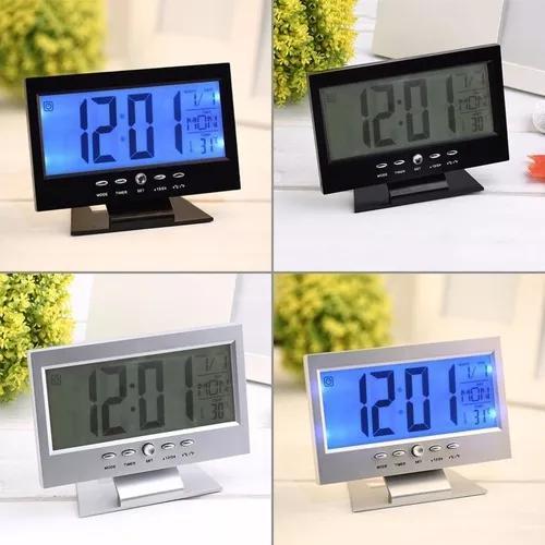 Relógio digital mesa led despertador luz t