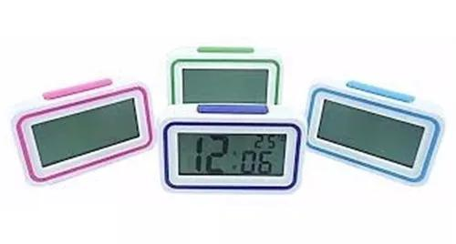 Relogio despertador digital lcd led com termometro fala hora