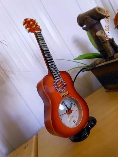 Relogio despertador violão miniatura rico detalhes frete