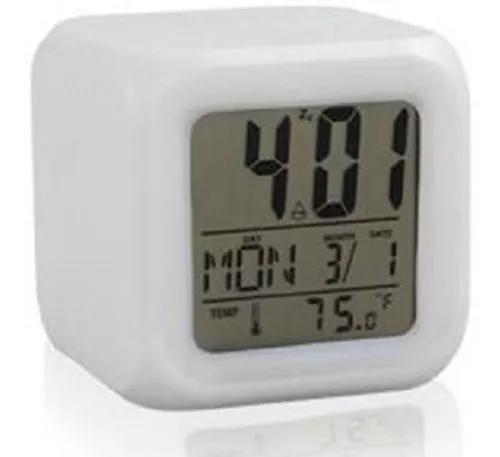 Relogio digital c/data, termômetro, despertador, muda de