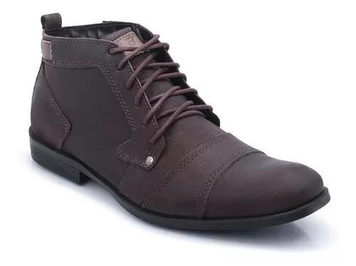 Sapato bota masculina casual couro.sapato cano alto bergally
