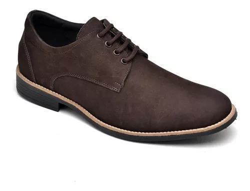 Sapato sport social masculino couro nobuck 3408