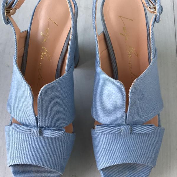 Sandália meia pata azul jeans luiza barcelos