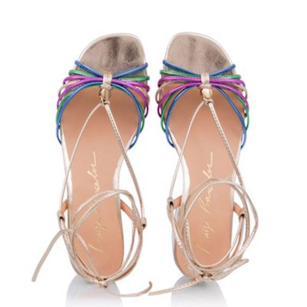 Sandália salto bloco luiza barcelos