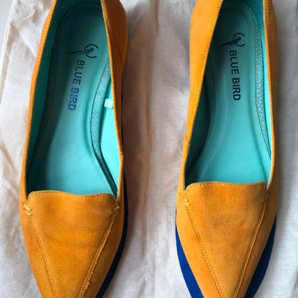 Sapatilha bico fino amarela blue bird shoes