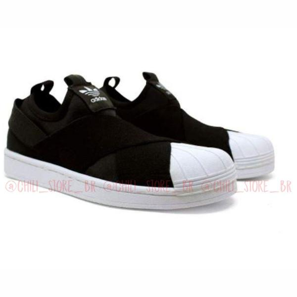 Tênis adidas slip-on preto sneaker masculino feminino