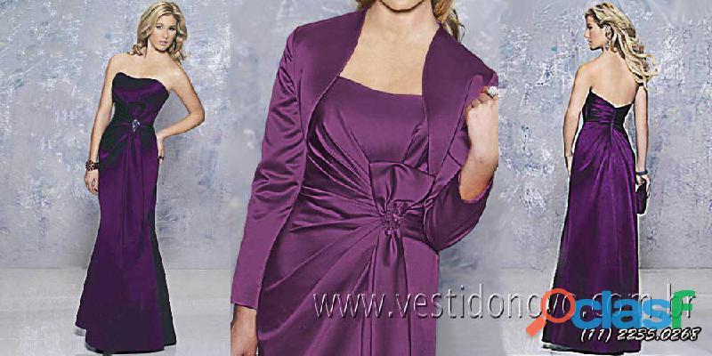 vestido roxo, manga longa da loja VESTIDO NOVO