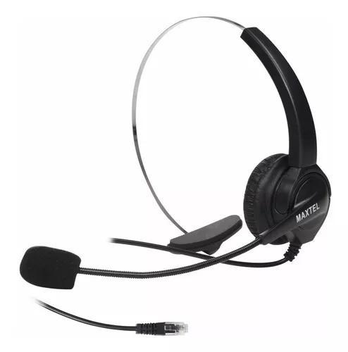 5 Fone Headset Telefone Fixo Fio Maxtel Rj11 Tel