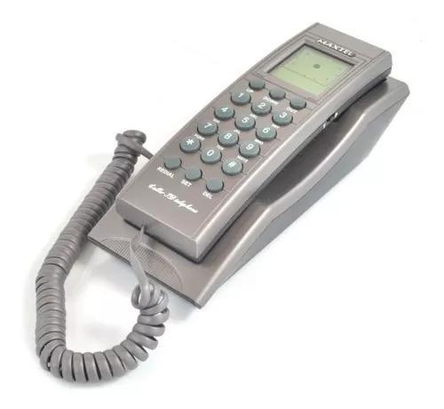 Aparelho telefone c/ fio id chamadas mt-2006 grafite maxtel