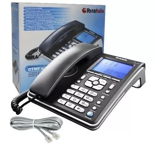 Aparelho telefone fixo com fio identificador de chamadas bin