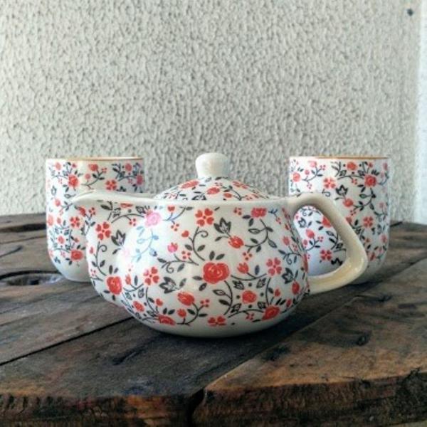 Conjunto chá oriental - 3 peças