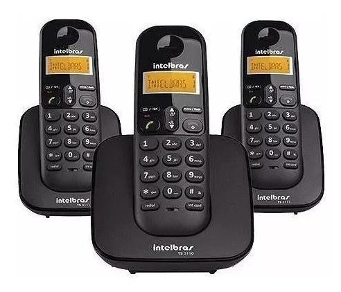 Intelbras telefone s/fio ts3113 preto base+2 ramais dect 6