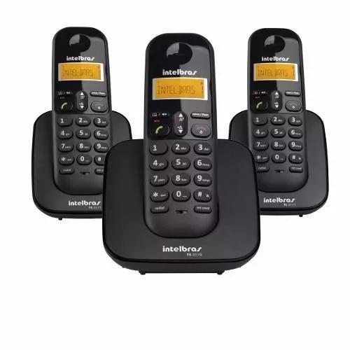 Intelbras ts 3113 telefone dect s fio bina base 2 ramais