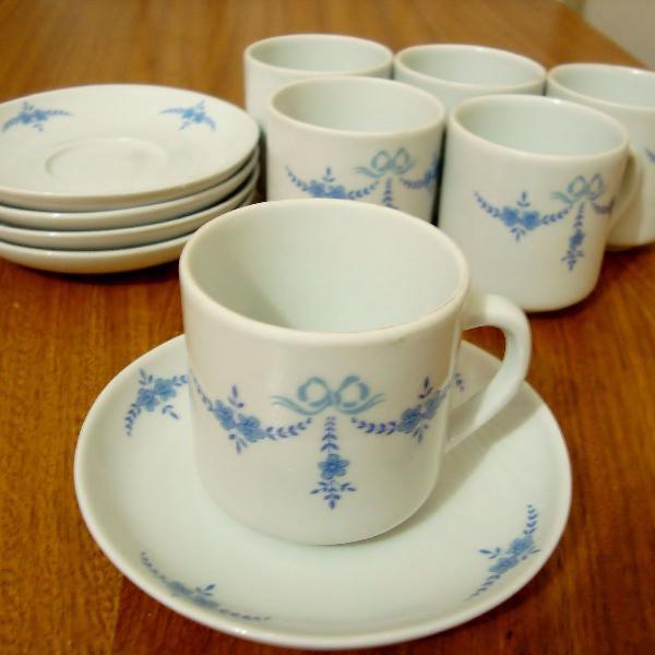 Jogo café azul 11 peças pozzani
