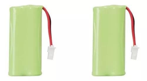 Kit 2 bateria 2,4v 600ma para telefone s