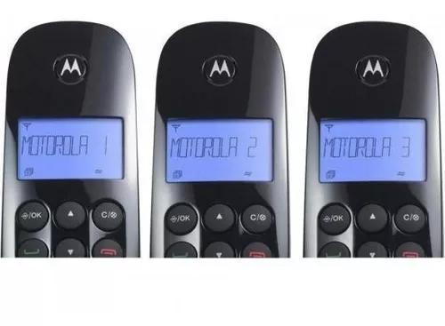 Kit 3 telefone motorola moto700mrd3 s