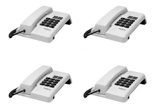 Kit 4 telefones com fio tc 50 pr