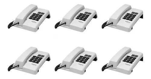 Kit 6 telefones com fio tc 50 pr