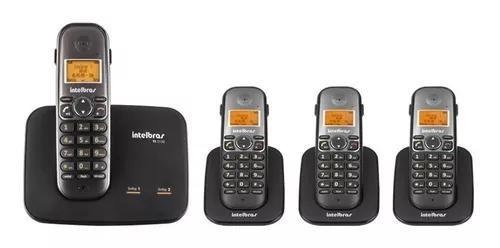 Kit telefone 2 linhas ts 5150 + 3 ramais ts 5121 intelbras