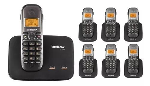 Kit telefone 2 linhas ts 5150 + 6 ramais ts 5121 intelbras