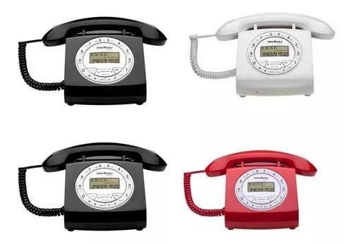 Kit telefone retro intelbras c/ fio tc 8312 s