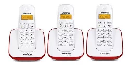 Kit telefone s/fio ts 3110 + 2 ramais ts3111 br/vm intelbras