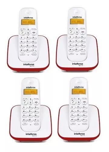 Kit telefone s/fio ts 3110 + 3 ramais ts3111 br/vm intelbras