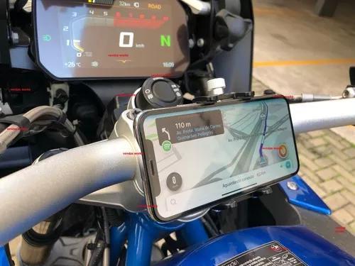 Suporte de alumínio celular iphone motos bicicleta bmw