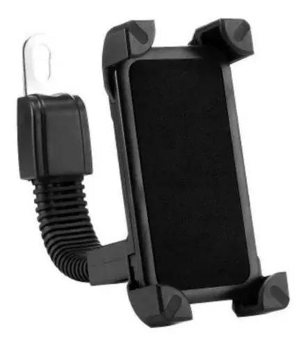 Suporte de moto com carregador de celular usb ajustável