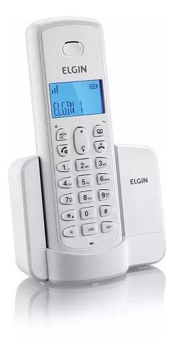 Tel. s/ fio c/ id. de cham e viva-voz branco elgin tsf8001