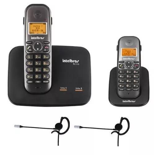Telefone 2 Linhas Ts 5150 + 1 Ramal + 2 Fones Intelbras