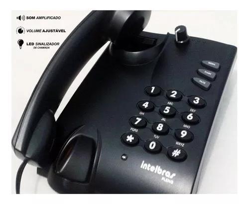 Telefone amplificado para surdo, deficiente auditivo, c/ led