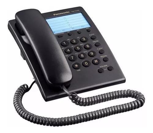 Telefone Analógico C/ Fio Preto Mod. Kx-t7701 - Panasonic
