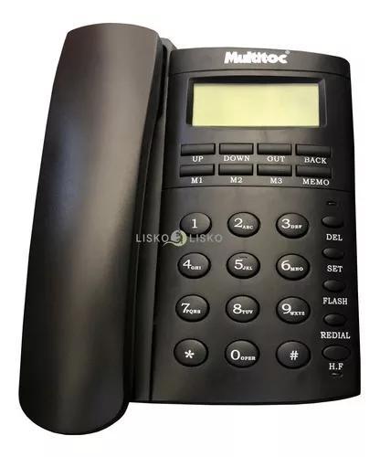 Telefone c/ fio viva voz office id grafite multitoc