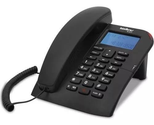 Telefone c/ fio viva-voz + identificador tc 60 id intelbras