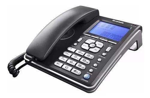 Telefone c/ identificador ibratele capta fone c/ fio com nf