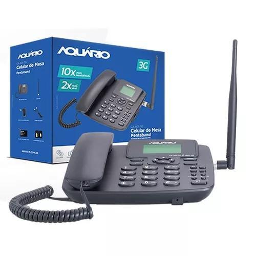 Telefone celular rural fixo aquario ca 40s 3g 5 bandas