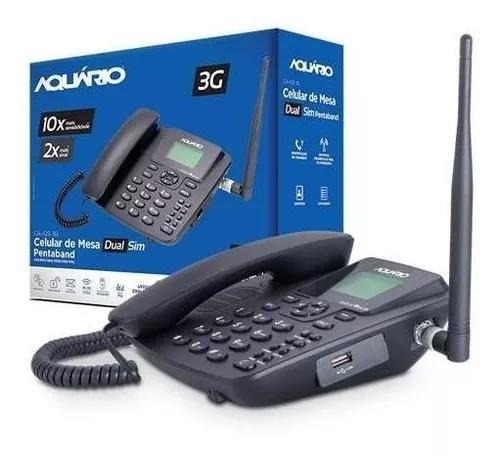 Telefone celular rural fixo aquario ca 42s 3g 5 banda 2 chip