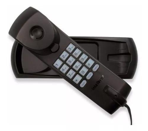Telefone com fio fixo de parede e mesa tc20 preto intelbras