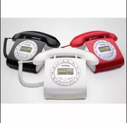 Telefone com fio intelbras retro ts8312 cores