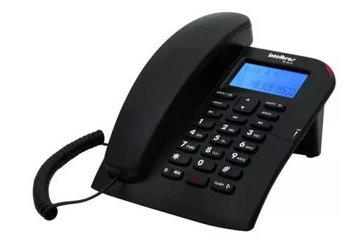 Telefone com fio intelbras tc 60 id preto viva voz