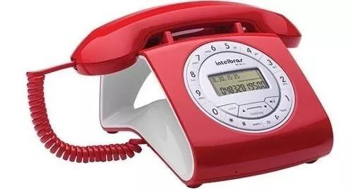 Telefone com fio intelbras tc 8312 vermelho novo design
