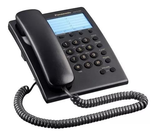 Telefone com fio panasonic kx-7701br preto