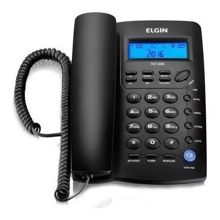 Telefone com fio tcf 3000 com display elgin