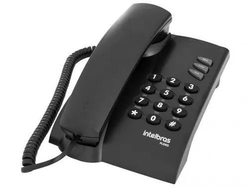 Telefone de mesa pleno preto ou branco intelbras cx 1 un