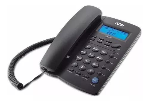 Telefone elgin com fio identificador chamada tcf3000p