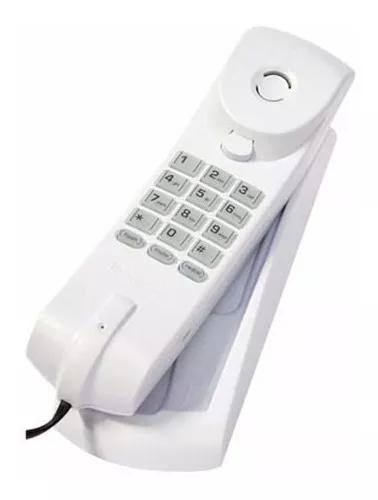 Telefone fio fixo de parede e mesa teclas luminosas branco