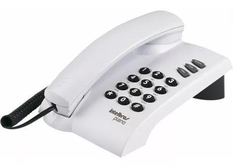 Telefone fio fixo residencial intelbras branco garantia