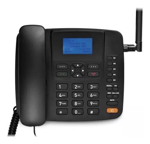Telefone fixo celular rural de mesa antena 5 band 3g s